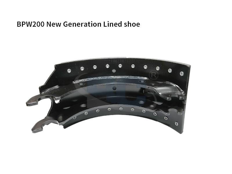 BPW200 Lined Brake Shoe